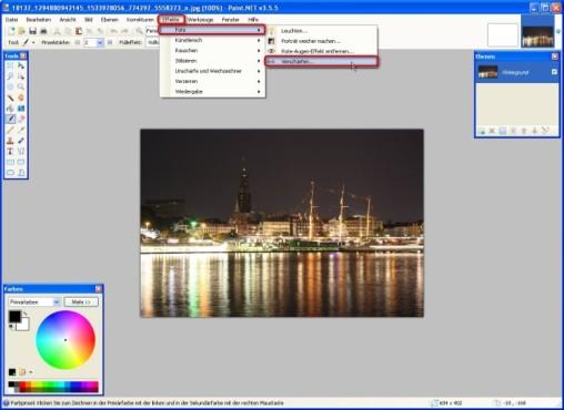 Paint.NET: Aufnahmen nachschärfen