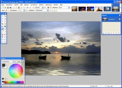 Paint.NET: Farben anpassen