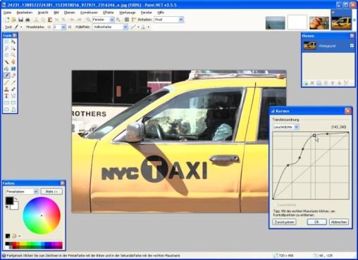 Paint.NET: Farbwerte anpassen
