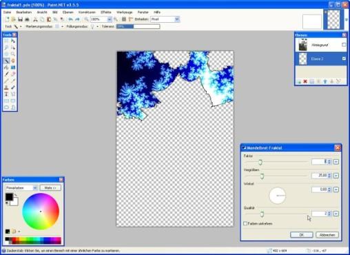 Paint.NET: Fraktale einfügen