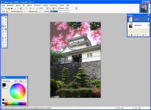 Paint.NET:  Fraktale verändern