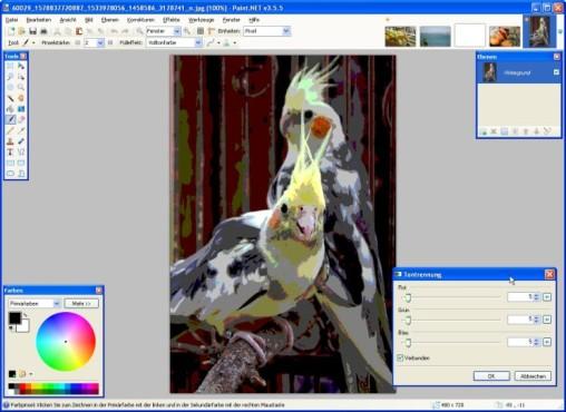 Paint.NET: Neue Farbtiefe festlegen
