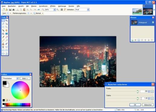 Paint.NET: Rauschen verringern