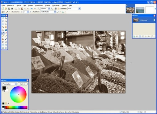 Paint.NET: Sepia-Aufnahme erzeugen