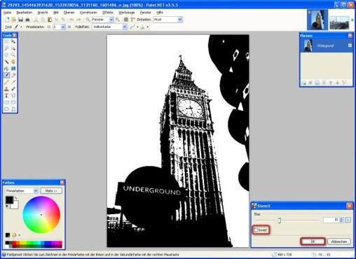 Paint.NET: Stencil: Effekt anwenden