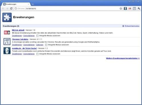Google Chrome: Erweiterungen entfernen