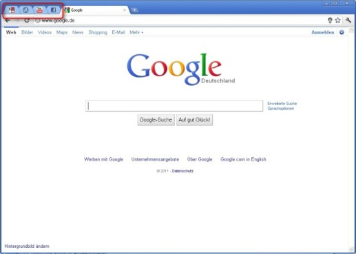 Google Chrome: Tabs anheften