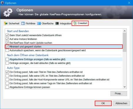 KeePass 2: Automatischen Programmstart aktivieren ©COMPUTER BILD