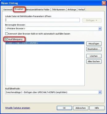 Password Depot: Automatische Bef�llung von Formularen einstellen