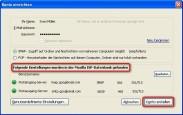 Thunderbird: Verbindung zum E-Mail-Konto �bernehmen
