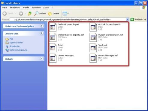 Thunderbird: Dateien auf USB-Stick kopieren