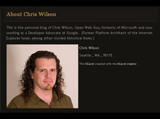 Chris Wilson&nbsp;&copy;&nbsp;http://cwilso.com/about/