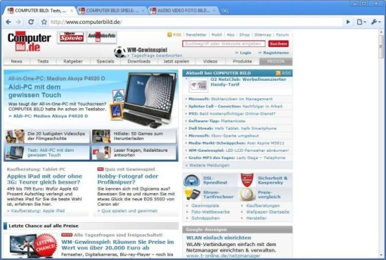 Google Chrome © screenshot
