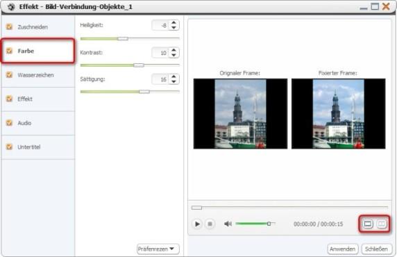 Xilisoft Video Converter Ultimate: Fotos optimieren