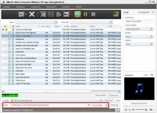 Xilisoft Video Converter Ultimate: Tracks rippen