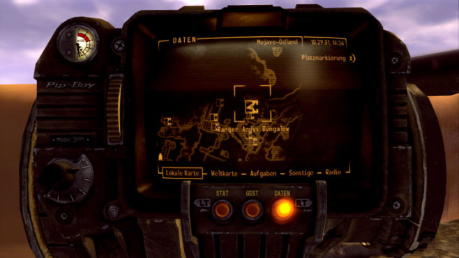 Rollenspiel Fallout – New Vegas: Pip-Boy © Bethesda Softworks