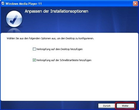 Windows Media Player: Programmverknüpfungen erzeugen