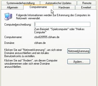 PC-Name ändern unter Windows XP ©COMPUTER BILD