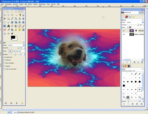 GIMP: Ausgeflippten Schnappschuss erstellen