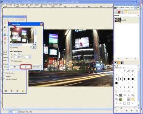 GIMP: Effekt anpassen