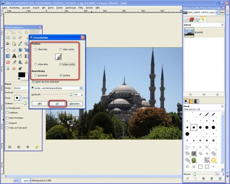 GIMP: Effekt einstellen