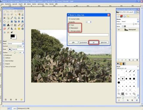 GIMP: Effekt kalibrieren