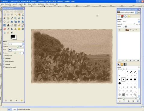 GIMP: Foto altern lassen