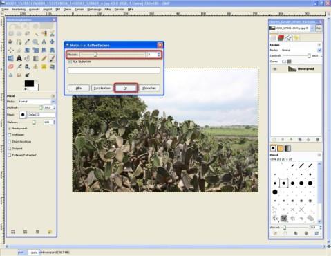 GIMP: Foto digital bekleckern