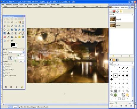GIMP: Fotos verpixeln