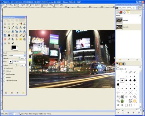 GIMP: Lichteffekt integrieren