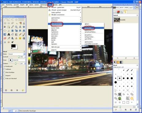 GIMP: Linsenreflex nutzen