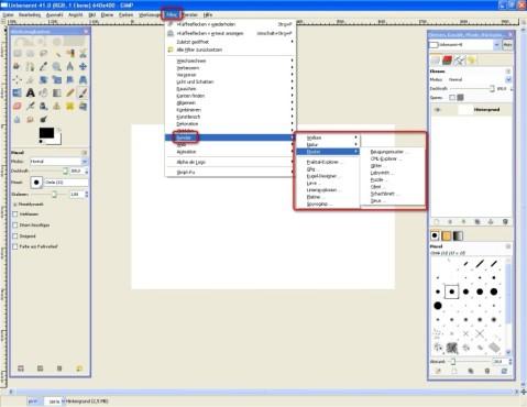 GIMP: Render-Filter effektvoll nutzen