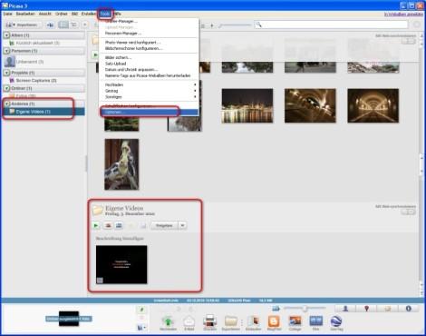 Picasa: Angezeigte Dateitypen ändern