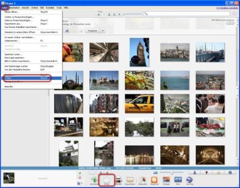 Picasa: Fotos in optimaler Qualität per E-Mail verschicken