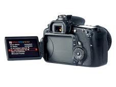 Ausklappbarer Kontrollmonitor Canon EOS 60D ©COMPUTER BILD