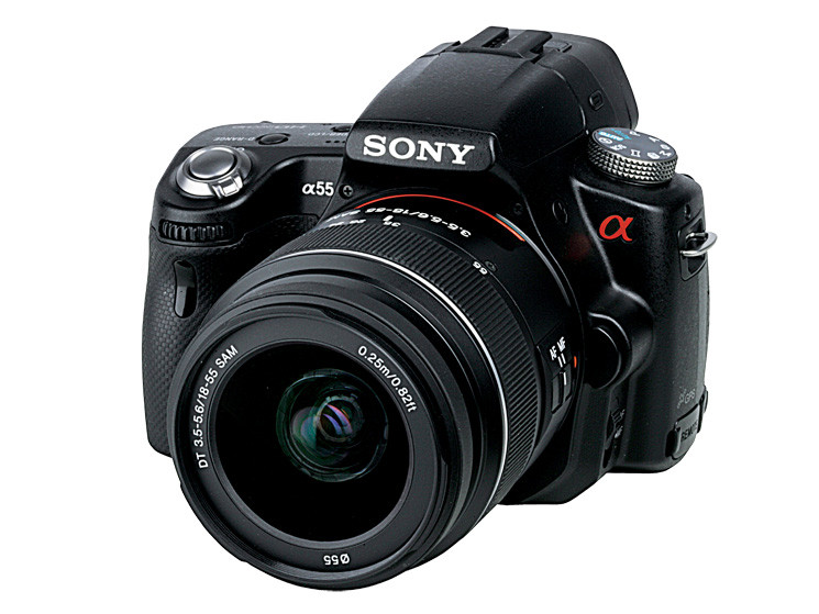 test spiegelreflexkamera sony slt 55v audio video foto bild. Black Bedroom Furniture Sets. Home Design Ideas