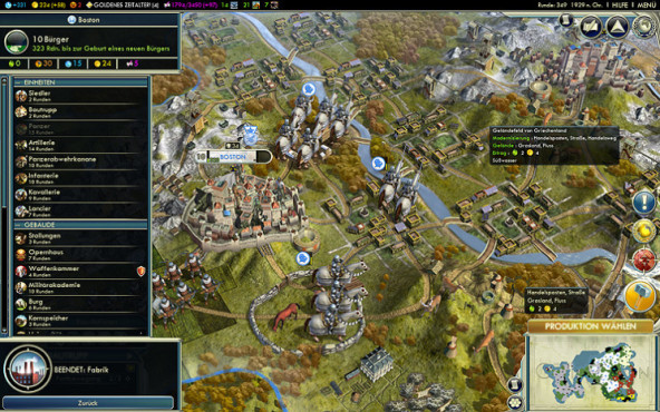 Strategiespiel Civilization 5: Karte © Take-Two