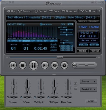 jetAudio: Sound-Mixer einstellen