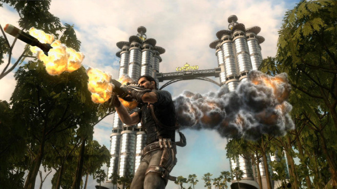 Actionspiel Just Cause 2: Rakete © Eidos