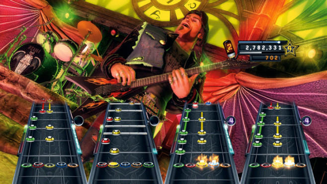 Musikspiel Guitar Hero – Warriors of Rock: Band © Activision