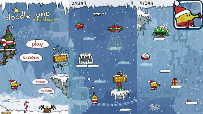 Doodle Jump Christmas Special ©Lima Sky LLC