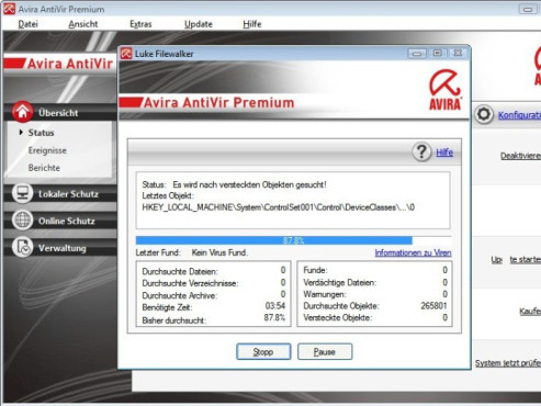 Avira AntiVir Premium © Screenshot