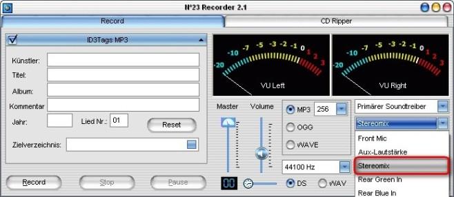 No23 Recorder: Aufnahmequelle bestimmen