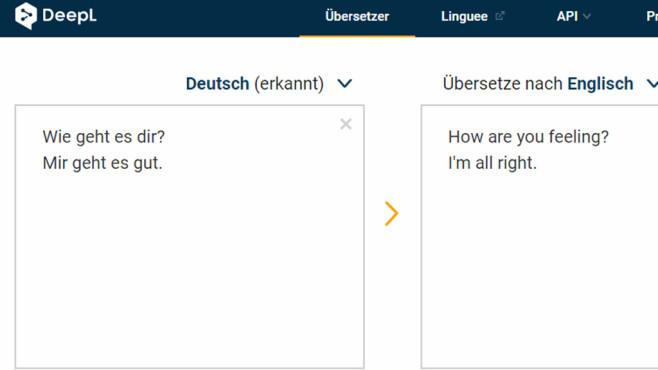 DeepL Online-Übersetzer: Alternative zum Google Translator ©COMPUTER BILD