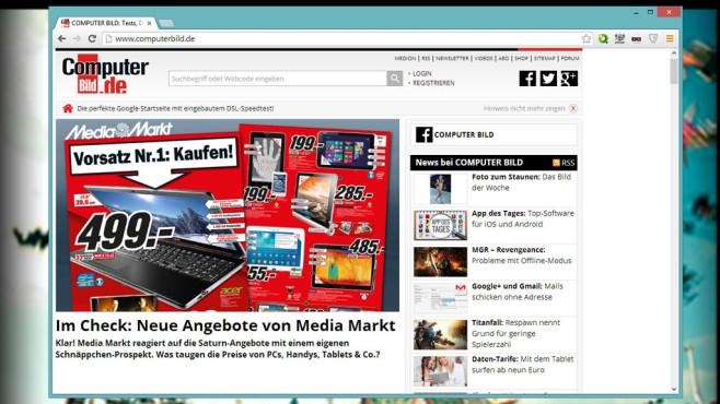 Google Chrome: Schlanker und schneller Browser ©COMPUTER BILD