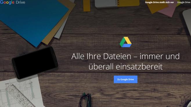 Google Drive: Dateien ins Web laden ©COMPUTER BILD