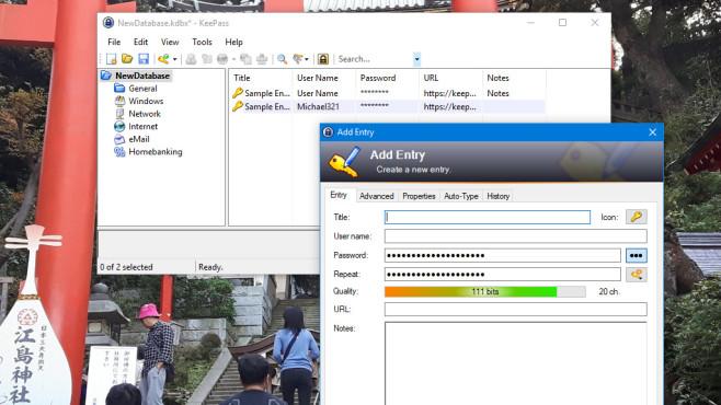 KeePass 2: Passwörter komfortabel verwalten ©COMPUTER BILD