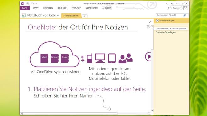 Microsoft OneNote: Ideen notieren ©COMPUTER BILD