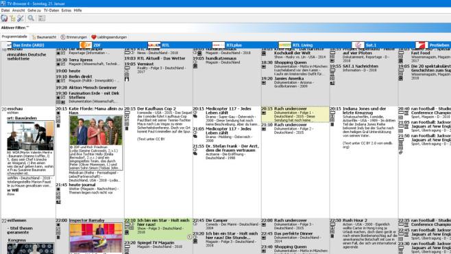 TV-Browser: Fernsehprogramm abrufen ©COMPUTER BILD