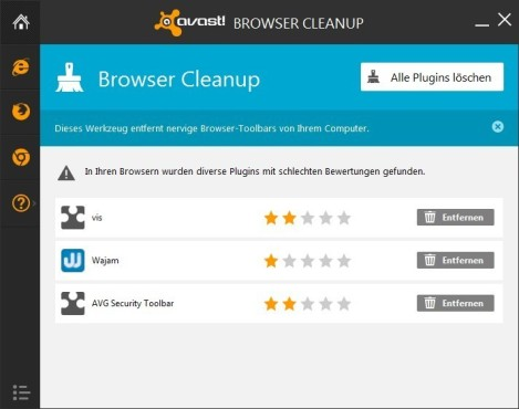 Avast Browser Cleanup © COMPUTER BILD